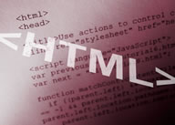 Web site HTML code